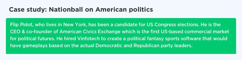 Political fantasy software app development by Vinfotech