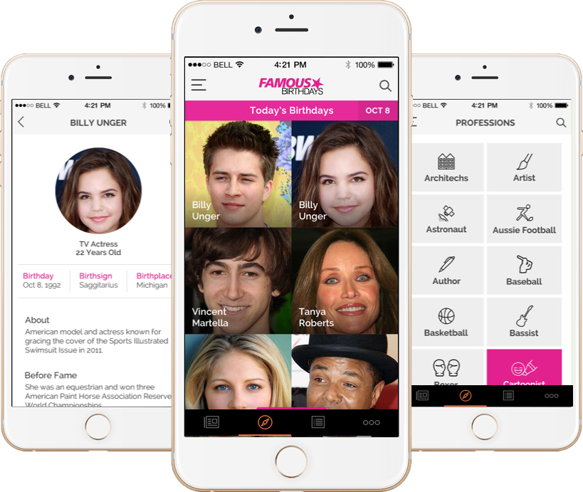 Famous Birthdays – Social Network Application Design and Development by Vinfotech