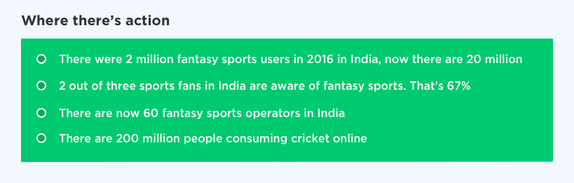 Fantasy sports development for India by Vinfotech