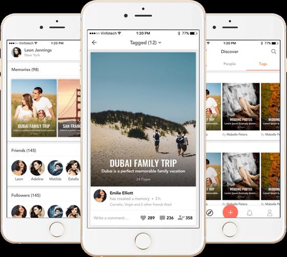Custom Social Media iOS App Development for Sharing Photos by Vinfotech