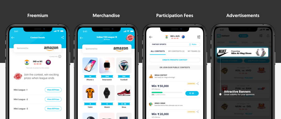 You can make money by charging the user a participation charge.