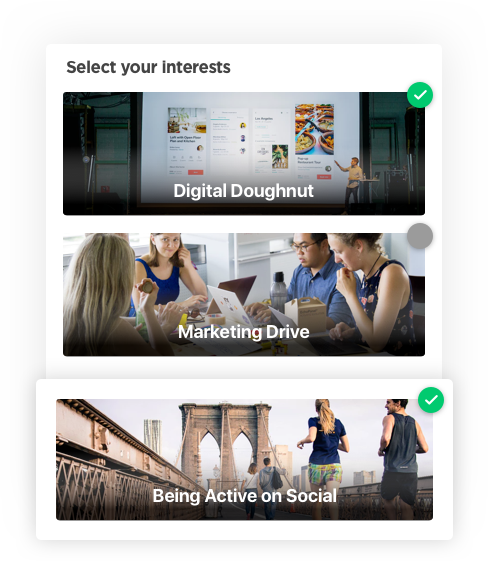 Interests – Social Media Application Development Software by Vinfotech