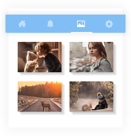 Media Gallery & Albums – Social Media Application Development Software by Vinfotech