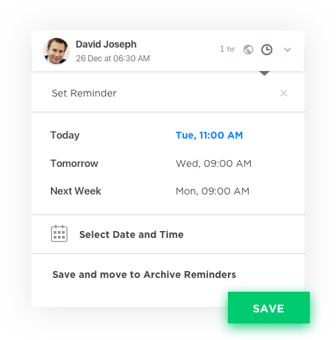 Reminders – Social Media Application Development Software by Vinfotech