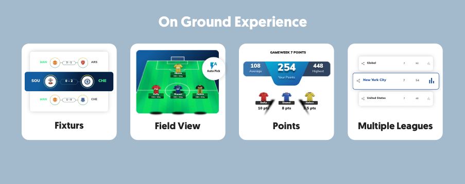 Our season-long fantasy sports apps offer technology & on-ground gaming experience.