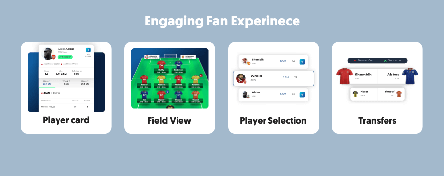 Our season-long fantasy sports software development is aimed to deliver engaging fan experience.