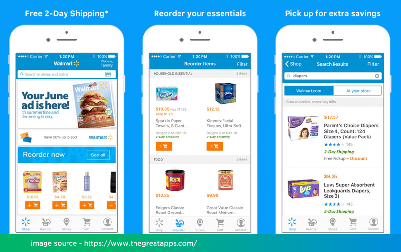 Walmart Mobile App Development on React Native by Vinfotech